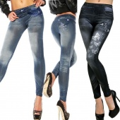 WOMENS SEXY SKINNY LEGGINGS JEANS JEGGINGS STRETCHY PANTS DENIM