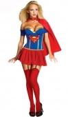 Xmas Gift Super Girl Hero Woman Adult Costume Fancy Party Dress Halloween