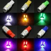 2pcs Bright T10 LED 5630/5730 10SMD LED Auto Car Turn Signal Interior Light Lamp Bulb with Lens