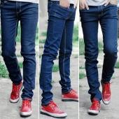 Fashion New Men Skinny Straight Legs Pants Slim Fit Casual Jeans Slacks Trousers