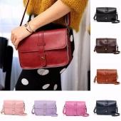 Women Leather Cross Body Messenger Handbag Shoulder Bag Tote Purse Girls Satchel