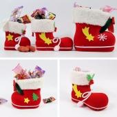 Xmas Gift Santa Pants Elf Spirit Boots Shoes Christmas Candy Bag Sack Stocking
