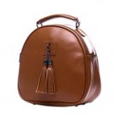 Tassel Women Leather Backpack Teenage Backpacks For Girls Vintage Double Shoulder Bags