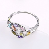 Fashion Lady Zircon Rings (color)