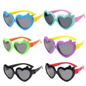 New Fashion Sunglasses Boys and Girls Lovely Children Silicone Peach Bow Frame Glasses