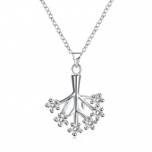 Fashion Necklace with Geometric Shape And Silver Necklace
