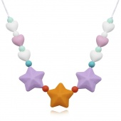Fashion Silicone Necklace Personality Star Shape Pendant Necklaces Jewelry