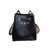 Fashion Women Handbags Casual Cute Cat Shoulder Bag Large Capacity Bag