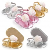 Toddler Girl Crib Shoes Newborn Pompon Soft Sole Anti-slip Baby Sneakers