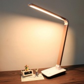 Foldable 4-level Dimmable Touch Desk Lamp LED Table Light Touch-Sensitive Controller UK Plug 12W