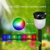 Waterproof Solar Panel LED Spike Light Landscape Spot Garden Yard Path Lawn Decor Outdoor Grounding
