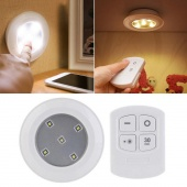 LED Wireless Puck Bright Night Lights with Remote Control Home Decor Conveninet