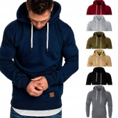 7 Colors Quality Cotton Size M-3XL Basic Men's Long Sleeve Autumn Winter Casual Sweatshirt Hoodies Top Blouse Tracksuits Men Fashion Hoodies