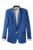 Fashion Women's Candy Color Basic Coat Slim Suit Jacket Blazer 6 Colors