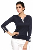 Women's Girls Long Sleeve Bottoming Shirt Crew Neck T-shirt Solid Top