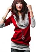 Korea Womens Lady Long Sleeve Cotton Tops Dress Hoodie Coat Fashion