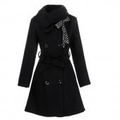 Womens Double-breasted Luxury Winter Wool Coat Jacket