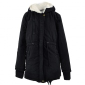 Cotton-padded Thicken Berber Fleece Coat Frock Overcoat