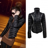 Womens Short Cotton-padded Jacket Casual Winter Coat Outerwear New M L XL