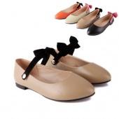 """Women""""s Sweet Bowknot Ballet Low Heels Flat Loafers Casual Preppy Flat Shoes"""