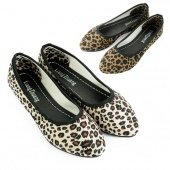 Fashion Sexy Leopard Women Pointed Flat Shoes for Lady Flats & Beige Brown