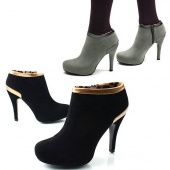 High Heel Popular XMAS Platform Pump Ankle Boots Suede Women's Shoes