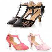 Women's Sexy Beautiful Retro Kitten Heels Sandals Shoes 3 Colors