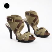 Summer Women's Fine with Open-toed High-heeled Roman Sandals New