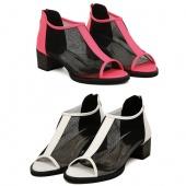 "Women""s Net Yarn Kitten Heels Thick Heels Peep Toe Sandals Shoes 3 Colors"