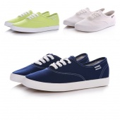 Woman Girls Fashion Spring Candy Color Lace-up Cloth Shoes Canvas Shoes 3Colors