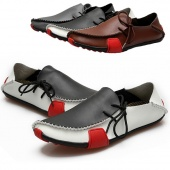 Fashion Mens Casual Leather Driving Shoes 3 Color 6 Size
