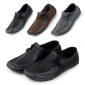 Man Summer Leather Driving Shoes Flats Casual Shoes 3Colors 5Sizes