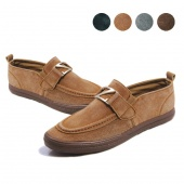 "Men""s Canvas Casual Slip on Loafer Pure Leisure Shoes Four Colors"