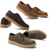 """Fashion British Style Men""""s Board Shoe Casual Leather Shoes Thick-soled Shoes"""