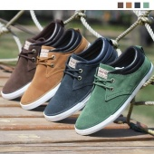 Fashion Sneakers Matte Leather Shoes for Men Casual Shoes British Style