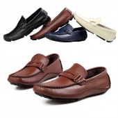 "Fashion British Style Men""s Boat Shoes Casual Breathable Leather Shoes"