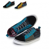 Fashion Men Casual Canvas Shoes Korean Denim Mixed Colors Casual Shoes