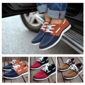British Style Fashion Men's Casual Shoes Frosted Breathable Shoes