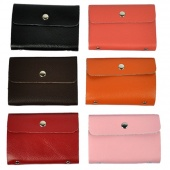 PU Leather Business ID Name Credit Card Purse Wallet Bags Case Pouch 6 Colors