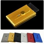 Metal Business Aluminum Alloy Card Case Name Card ID Credit Card Holder Pocket Box