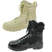 Fashion Men's Side Zip Outdoor Combat Boots Desert Boots Climbing Sport Shoes Boots Black/Khaki