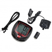 2 Tier LCD Display Bike Bicycle Cycle Computer Odometer Speedometer +cable New