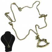 "Women""s Fashion Vintage Retro Hobbyhorse Style Chain Necklace"