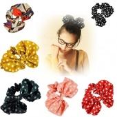 Big Size Bowknot Hair Tie Bracelet Japan Korean Style Ponytail Holder
