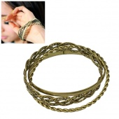 "Women""s Retro Elegant Multilayer Bangle Bracelet Bronze"
