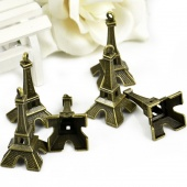 10pcs Vintage Alloy the Eiffel Tower DIY Jewelry Cellphone Pendants Accessories Charms