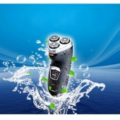 Black Washable 3 Heads Electric Shaver Rechargeable