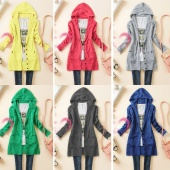 Spring Women's Casual Long-sleeve Knitted Sweater Outerwear Medium-long Hooded Cardigan