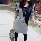 Shrug Handsome Blouse Tops Fashion Joining Together Long T-shir Small