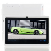 White Android 4.0.4 Tablet PC A13 Q88 7 Inch Capacitive ScreenCamera Support Wifi